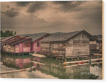 Wood Print featuring the photograph Huts In South Sulawesi by Charuhas Images