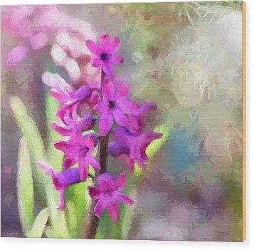 Hyacinth Wood Print by Louise Lavallee