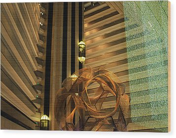 Hyatt Regency Sf Atrium Wood Print