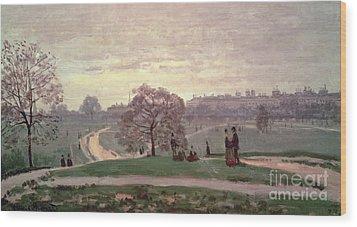 Hyde Park Wood Print by Claude Monet