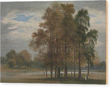 Hyde Park Wood Print by John Martin