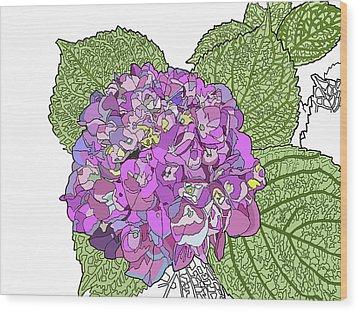 Hydrangea Wood Print by Jamie Downs