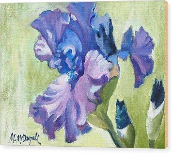 Hydrangea Wood Print by Michael McDougall