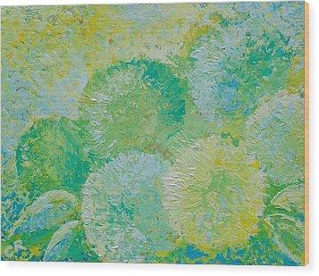 Hydrangea Sunrise Wood Print