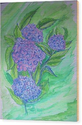 Hydrangea Wood Print by Cathy Long