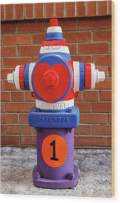 Wood Print featuring the photograph Hydrant Number One by James Eddy