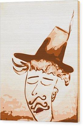 Hyper Chauvinist Wood Print
