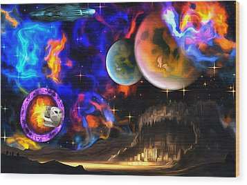 Hyperactivity Sector X66 In The Andromeda Gallaxy Wood Print by Mario Carini