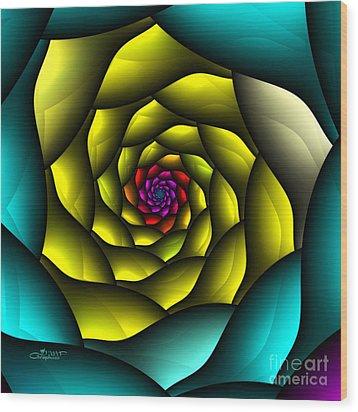 Hypnosis Wood Print by Jutta Maria Pusl