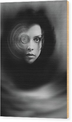 Hypnosis   Wood Print by Mayumi Yoshimaru