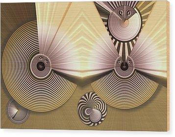 Hypnotic Wood Print by Ron Bissett