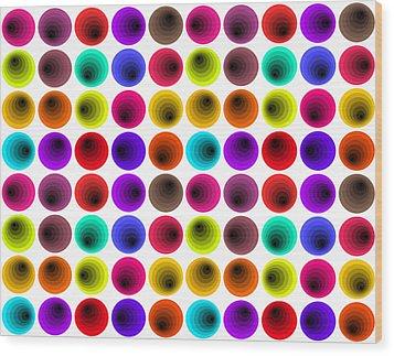 Hypnotized Optical Illusion Wood Print by Sumit Mehndiratta