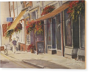 Wood Print featuring the painting Hythe High Street by Beatrice Cloake