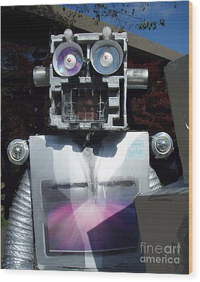 I - Robot Wood Print by Bill Thomson