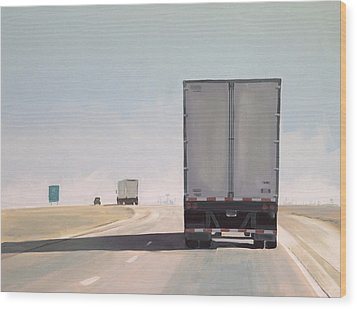 I-55 North 9am Wood Print by Jeffrey Bess
