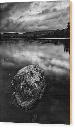 Wood Print featuring the photograph I Am A Rock by Mike Lang