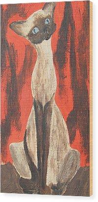I Am A Siamese If You Please Wood Print by Marsha Elliott