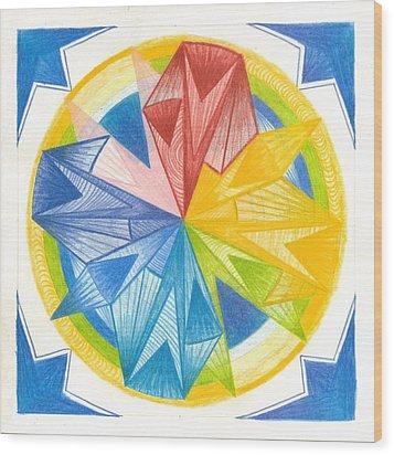 I Am Forgiveness Wood Print by Ulla Mentzel