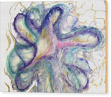 I Am God Wood Print by Erika Brown