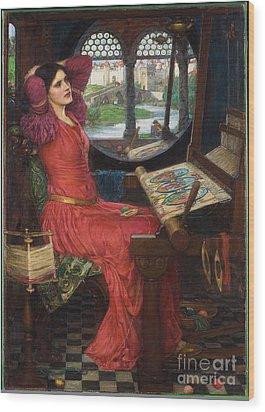 I Am Half-sick Of Shadows, Said The Lady Of Shalott Wood Print