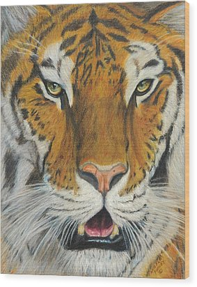 I Am Looking At You Wood Print by Angela Finney