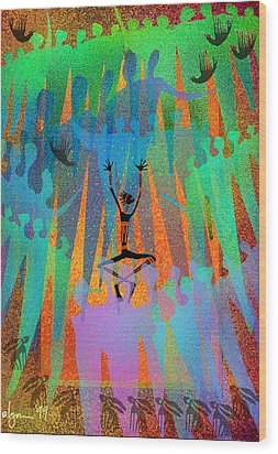 I Am Not Alone Wood Print by Angela Treat Lyon
