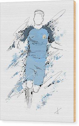 I Am Sky Blue Wood Print