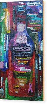 I Am Strong Wood Print by Patti Schermerhorn