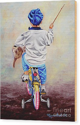 I Am The King Of The World 1 - Yo Soy El Rey Del Mundo 1 Wood Print