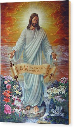 I Am The Resurrection Wood Print by John Lautermilch