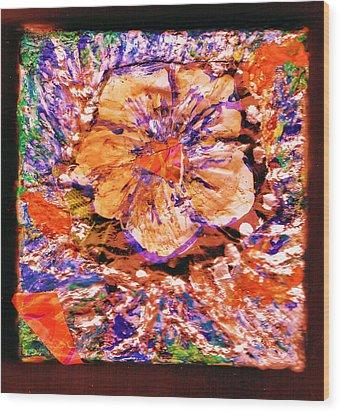 I Am Woman Who Likes Flowers Wood Print by Anne-Elizabeth Whiteway