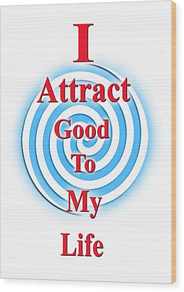 I Attract Red White Blue Wood Print