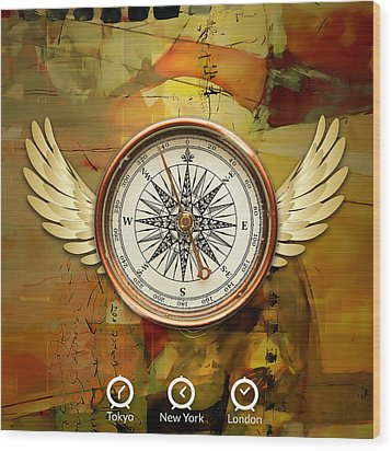 Wood Print featuring the mixed media I Believe I Can Soar by Marvin Blaine