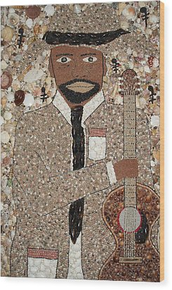 I Can Play The Blues Wood Print by Ben Sivells