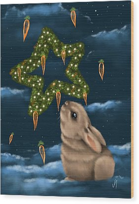 Wood Print featuring the painting I Can Smell The Christmas In The Air by Veronica Minozzi