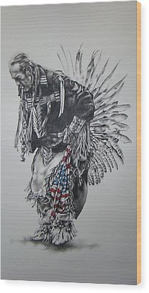 I Close My Eyes And Hear The Songs Of My Ancestors Wood Print by Michael Lee Summers