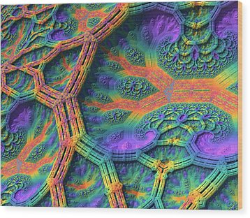 Wood Print featuring the digital art I Don't Do Drugs, Just Fractals by Lyle Hatch