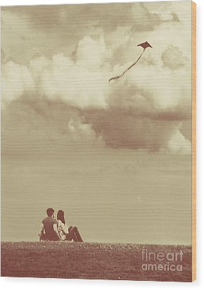 I Had A Dream I Could Fly From The Highest Swing Wood Print