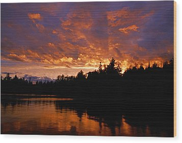 I Have Seen Rain And I Have Seen Fire Wood Print by Larry Ricker