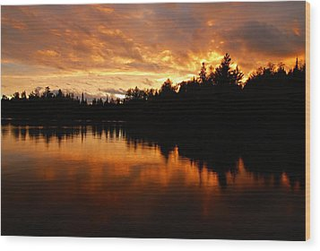 I Have Seen Stormy Days That I Thought Would Never End Wood Print by Larry Ricker