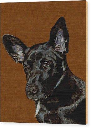 I Hear Ya - Dog Painting Wood Print