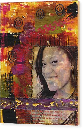 I Like Colors   What About You Wood Print by Angela L Walker