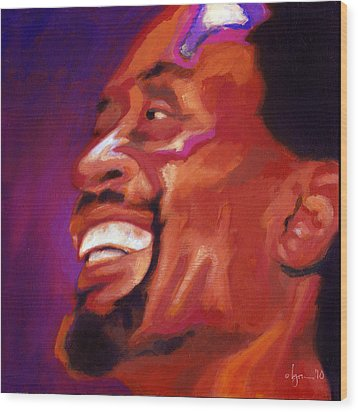 I Love Bobby Mcferrin Wood Print by Angela Treat Lyon