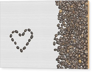 I Love Coffee Wood Print by Joana Kruse