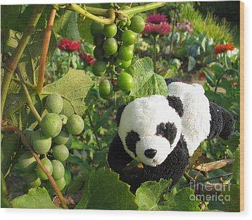Wood Print featuring the photograph I Love Grapes B by Ausra Huntington nee Paulauskaite