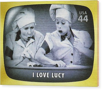 I Love Lucy Wood Print by Lanjee Chee