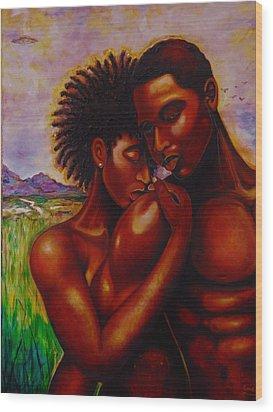 I Love You Wood Print by Emery Franklin