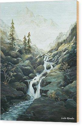 I Nostri Montagna Wood Print by Leslie Rhoades
