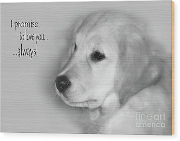 I Promise To Love You Always Wood Print by Cathy  Beharriell