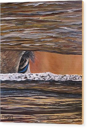 I See You Wood Print by Marilyn McNish
